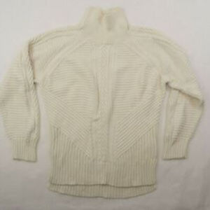 Banana Republic Cable Knit White ThicK Cowl Neck S